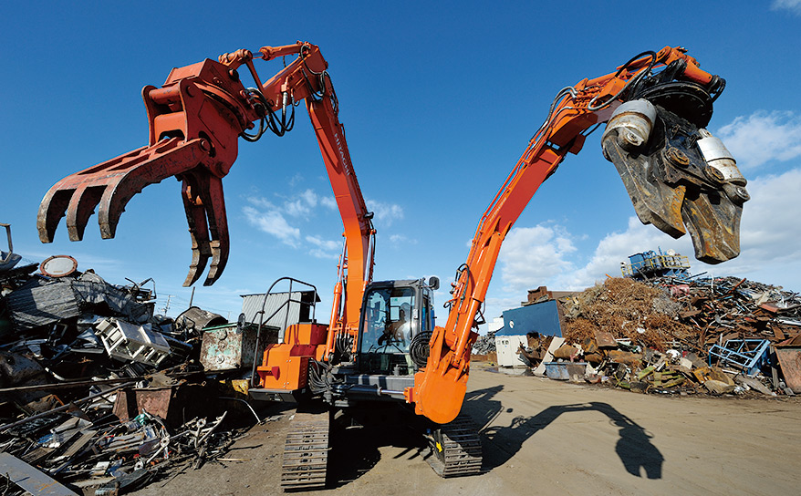 Double-Front Work Machine - Hitachi Construction Machinery