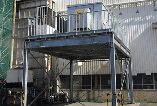 写真:土浦工場の排熱を工場内空調に再利用するユニット