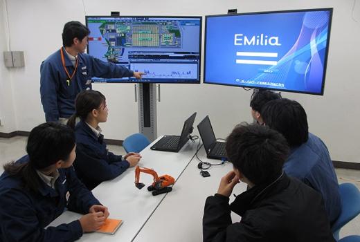 写真:設備単位の電力状況が把握できる「EMilia」