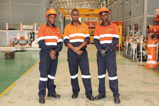 Interns on the job