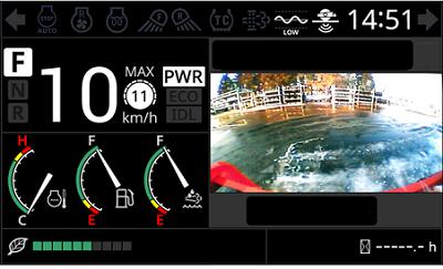 前進時のモニター画面イメージ