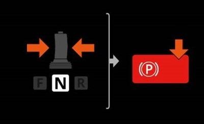 駐車ブレーキの解除をし忘れた際の操作手順